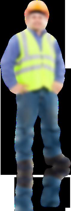 ouvrier avec gilet de sécurité