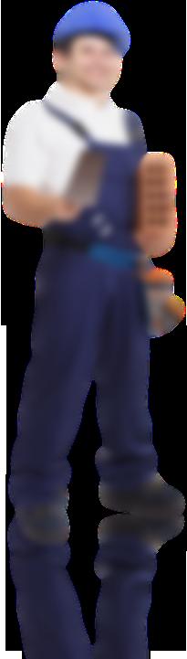 ouvrier avec bleu de travail